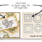 ONLINE CLASS & VIDEO:  How to make Hexagon Painted Harvest Card and Rectangles from Square dies