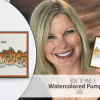 BLOG HOP & GIVEAWAY: Trick or Treat Watercoloring Pumpkins Card
