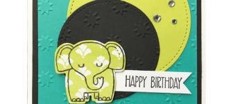 CARD: A Little Wild and Adorable Elephant Birthday Card