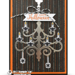 CARD: Happy Halloween Chandelier Season to Sparkle Card