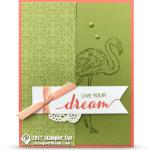 CARD: Dare to Dream Flamingo Card