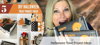 BLOG HOP & GIVEAWAY: How to make 5 Halloween Candy Treat Project Video