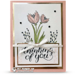 CARD: Thinking of You Card from the Count My Blessings Stamp Set Part 1 of 2