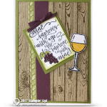CARD: Wine Improves with Age from the Half Full Stamp Set