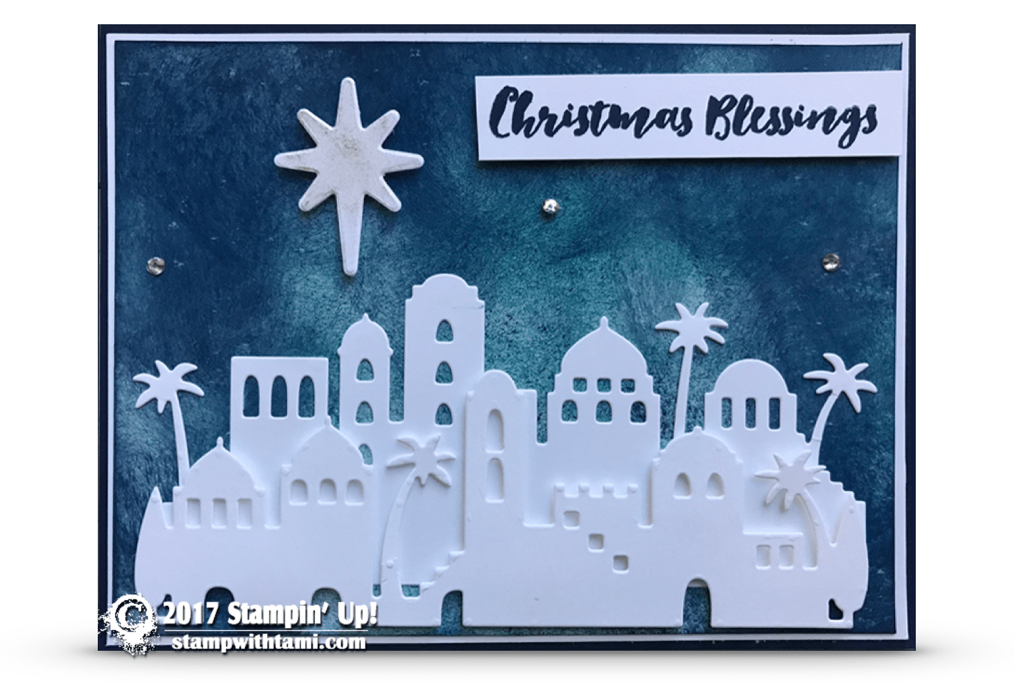 CARD Night In Bethlehem Christmas Blessings Card