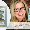 ONLINE CLASS & VIDEO: How to Make a Quilted Christmas Holiday Peace Card
