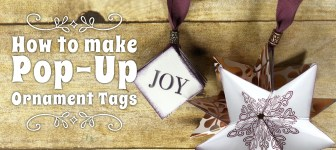 BLOG HOP & GIVEAWAY: How to make Pop-Up Ornament Tags