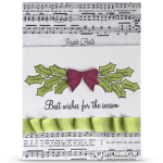 CARD: Best Wishes from the Holly Berry Happiness Stamps