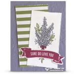 SNEAK PEEK: Lots of Lavender Love Card from Sale-a-Bration