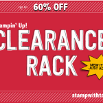 SALE! Up to 60% OFF – My Clearance Rack has just been updated – while supplies last