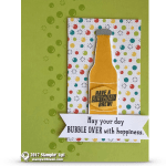 SNEAK PEEK: Have a birthday brew card from the Bubble Over Stamp Set