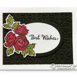 CARD: Best Wishes Beautiful Rose Card from the Patel Palette Series – Part 3