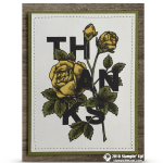 CARD: Thanks card from Floral Statements stamp set