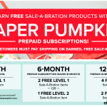 Sale-a-Bration and Paper Pumpkin kits – another way to get free products – ends March 31