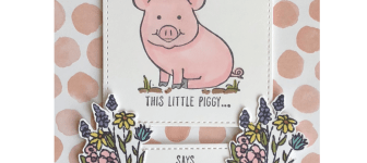 CARD:  Adorable This Little Piggy Says Thanks Card