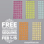 FREE TUTTI-FRUTTI SEQUINS with $50 purchase – ends February 15 – Hostess code RC6D7FH3