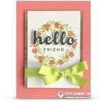 RETIRING:  Hello Friend Wreath Card