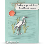 CARD: Thinking of you from the Lilypad Lake Stamp Set