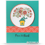 CARD: From the Heart from the Flying Home Stamp set – Part 2