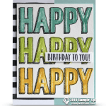 RETIRING: Happy Celebration Birthday Card