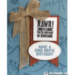 RETIRING: Rawr Dinosaur Card from the No Bones About Stamps