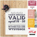 SPECIALS: Tami's Ordering Gift Tutorials  for April 1 – 15 – Hostess Code GWX9YPGT