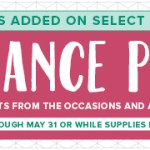 SALE: up to 50% OFF Retiring Stamps and Products ends May 31 or While Supplies Last