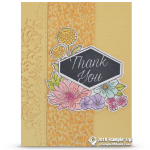 CARD: Thank You from the Accented Blooms Stamps