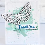 """CARD: Butterfly """"Thank you"""" from the Abstract Impressions bundle"""