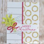 CARD: Merry Christmas wreaths from the Alpine Adventure
