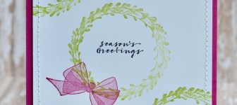 CARD: Season's Greetings holiday card from the Wishing You Well Stamp Set