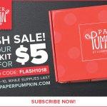 FLASH SALE: Paper Pumpkin Kits for $5 October 8-10 only