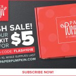 FLASH SALE: Paper Pumpkin Kits for $5 October 8-10 only