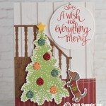CARD: A wish for everything merry doggie Christmas Tree Card