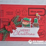 CARD: Merry Christmas Elf from the Signs of Santa Stamp Set