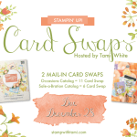 SWAP: Stampin Up Occasions & SAB Catalog Pre-Order Card Swap – Due December 28