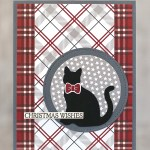 CARD: Festive Farmhouse Cat Christmas Wishes