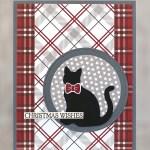 CARD: Festive Farmhouse Cat Christmas Wishes