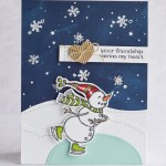 CARD: Friendship Card from the Spirited Snowman Stamp Set
