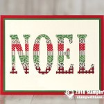 """CARD: Noel """"Wow"""" Card from the Large Letters Dies"""