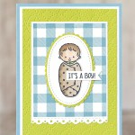 CARD: It's a Boy Card from the Sweet Baby Stamp Set
