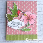 SNEAK PEEK: Gorgeous Hummingbird card from the Humming Along Bundle