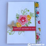 CARD: Happiest Birthday from the Needle & Thread Stamp Set