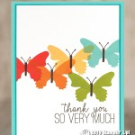 CARD: Thank you butterflies from the Butterfly Gala stamp set