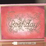 VIDEO: How to make an embossed birthday card featuring the Birthday Statements Stamp
