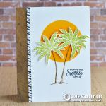 CARD: Sunny days palm tree card from the Beach Happy Stamps
