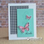 CARD: Thanks butterfly card from the Beauty Abounds Stamps