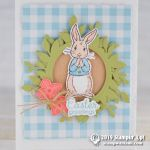 CARD: Easter Bunny Greetings from the Fable Friends Stamps