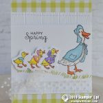 CARD: Happy Spring Duckies from the Fable Friends Stamp Set