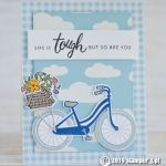 CARD: Life is tough card from the retiring Bike Ride stamps